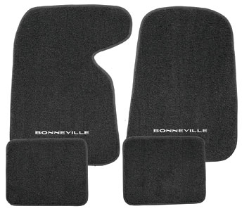 "1959-1976 Bonneville Floor Mats, Carpet Matched Oem Style Carpet ""Bonneville"" Script, by Trim Parts"