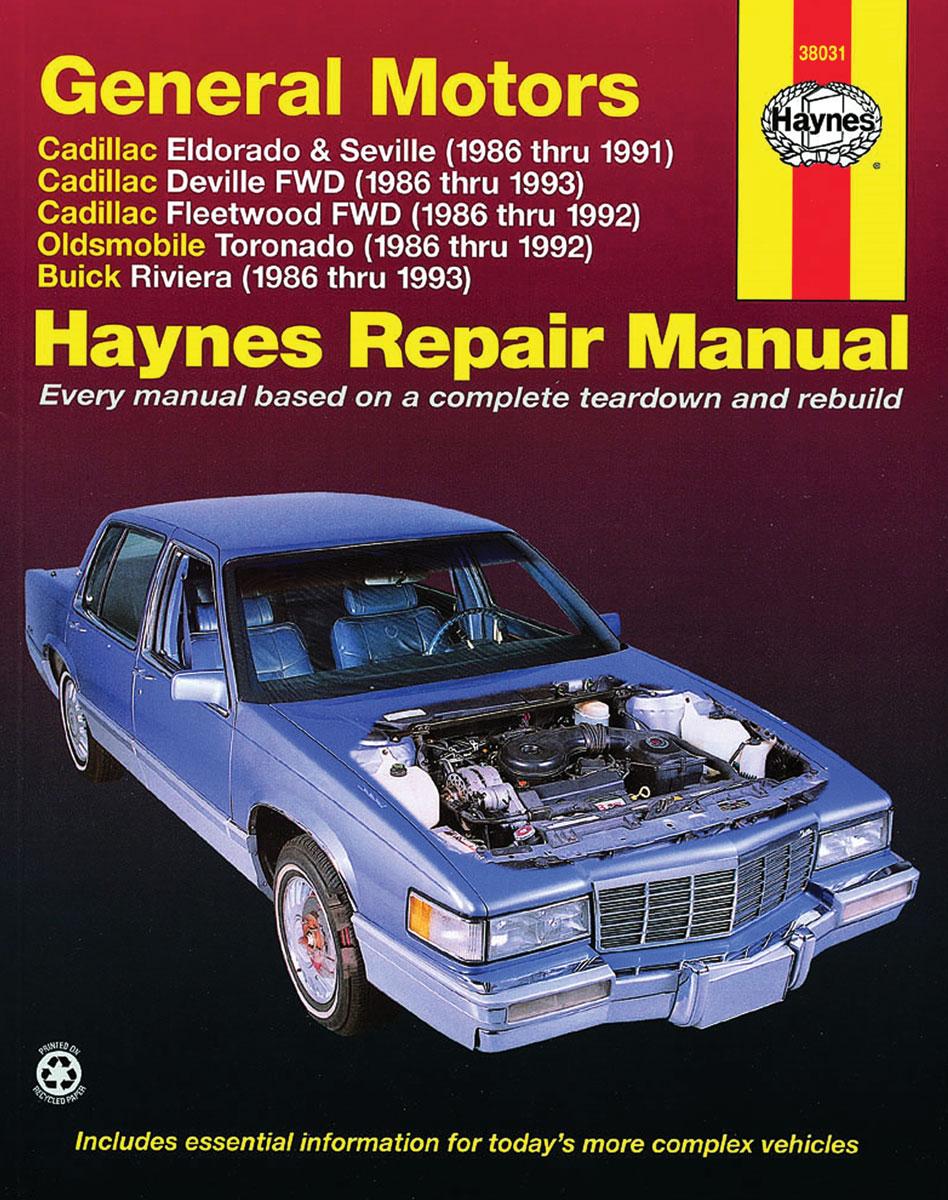Haynes Repair Manual DeVille, Eldorado, Seville