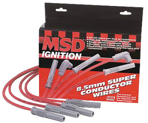 1964-1977 Chevelle Spark Plug Wire Set, 8.5 mm Super Conductor 90-Degree/Straight, by MSD