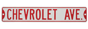 "Street Sign ""Chevrolet Ave"""