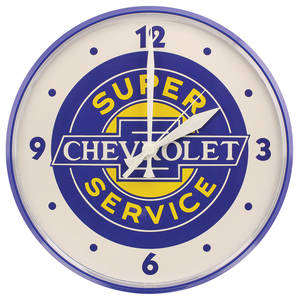 "Wall Clock ""Super Service Chevrolet"""