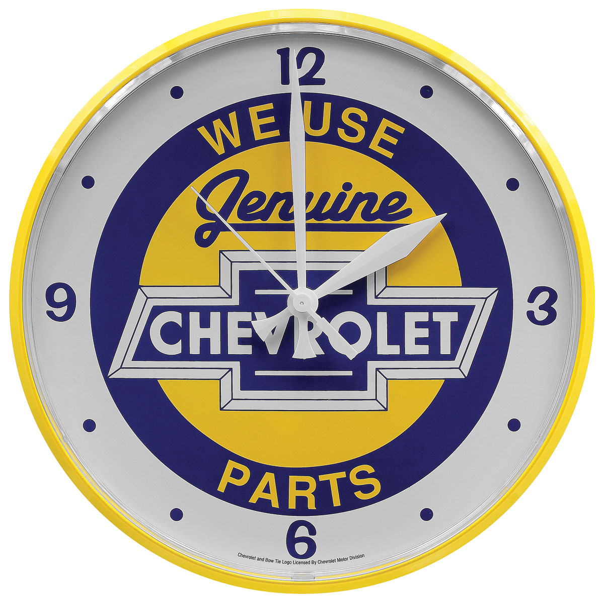"""Photo of Wall Clock """"We Use Genuine Chevrolet Parts"""""""