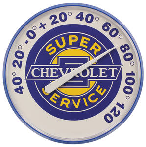 "Chevrolet Thermometers ""Super Chevrolet Service"""