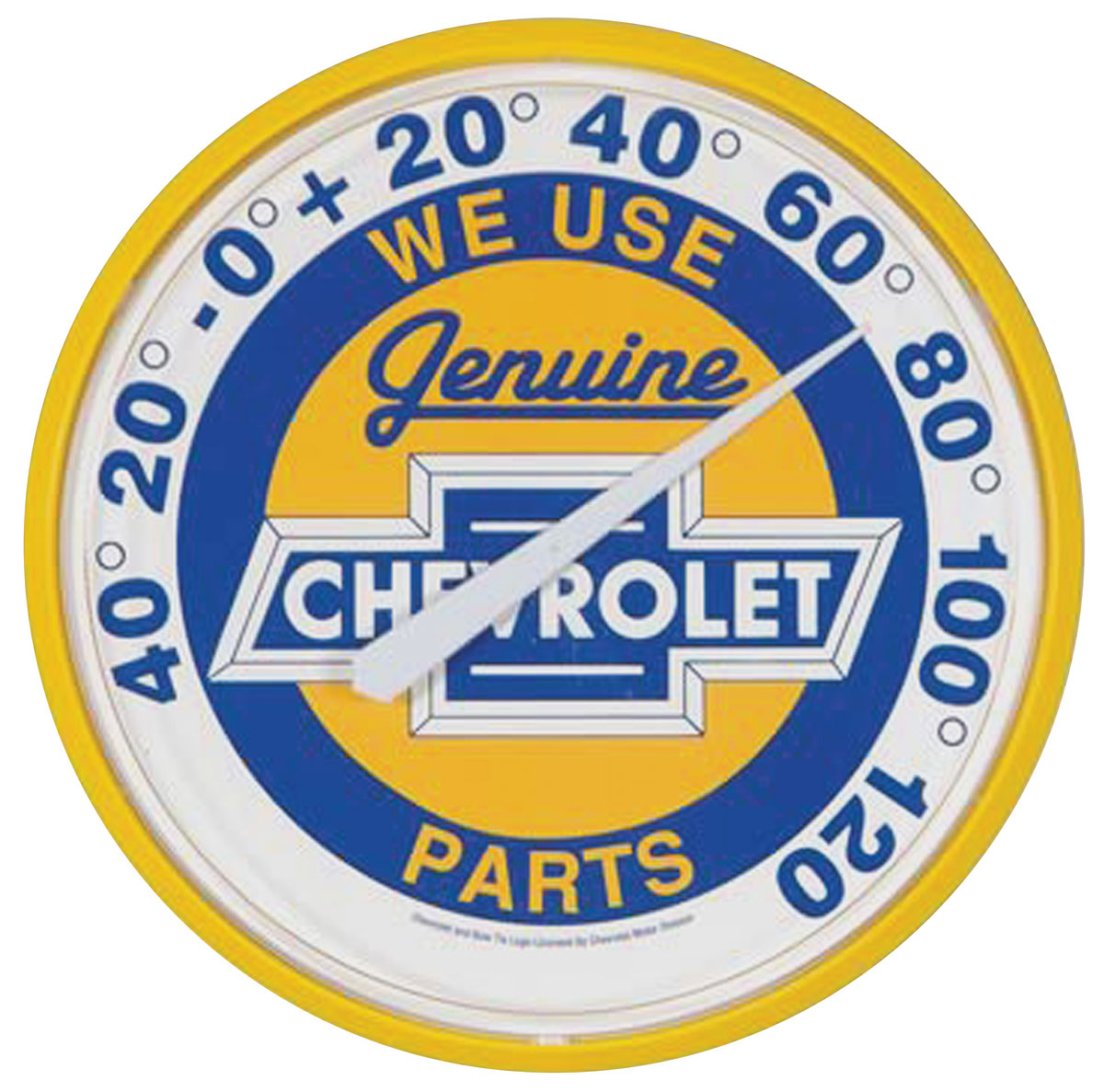 "Photo of Chevrolet Thermometers ""We Use Genuine Chevrolet Parts"""