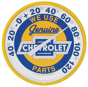 "Thermometer, Chevrolet ""We Use Genuine Chevrolet Parts"""