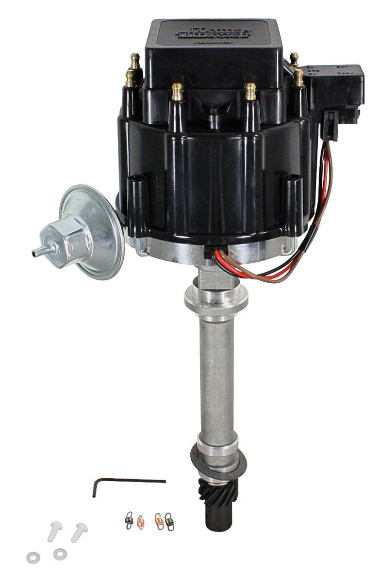 Photo of Distributor, Flame-Thrower HEI black cap/machined