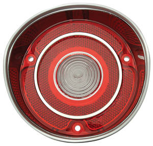 1971-1971 Chevelle Back-Up Light Lamp Lens, 1971 Chevelle w/Trim, by TRIM PARTS