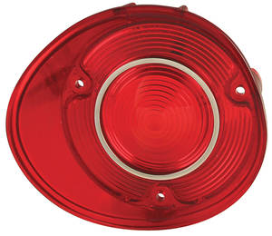 Tail Lamp Lens, 1972 Chevelle w/Trim