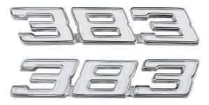 "1970 Chevelle Fender Emblem, ""383"""