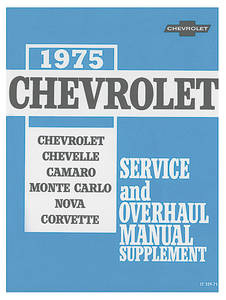 1975 Monte Carlo Chassis Service Manuals