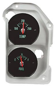 1970 Chevelle Gauge; Temperature & Fuel Green