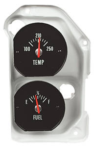 1971-72 El Camino Gauge; Temperature & Fuel White