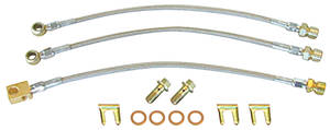1978-88 El Camino Brake Hose Set, Stainless Steel Disc Brake