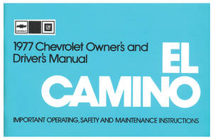 1977-1977 El Camino Owners Manuals, Authentic El Camino