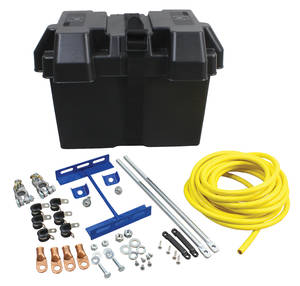 1962-1977 Grand Prix Battery Installation Kit, Trunk-Mounted, by Mr. Gasket