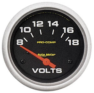 "1964-73 Tempest Gauges, Pro-Comp Liquid-Filled 2-5/8"" Voltmeter (8-18)"