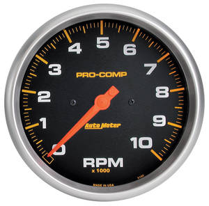 "1961-73 GTO Products Pro-Comp 5"" Tach (10,000 Rpm)"