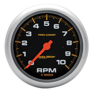 "Tachometer, Pro-Comp Series 3-3/8"" Tach (10,000 Rpm), by Autometer"