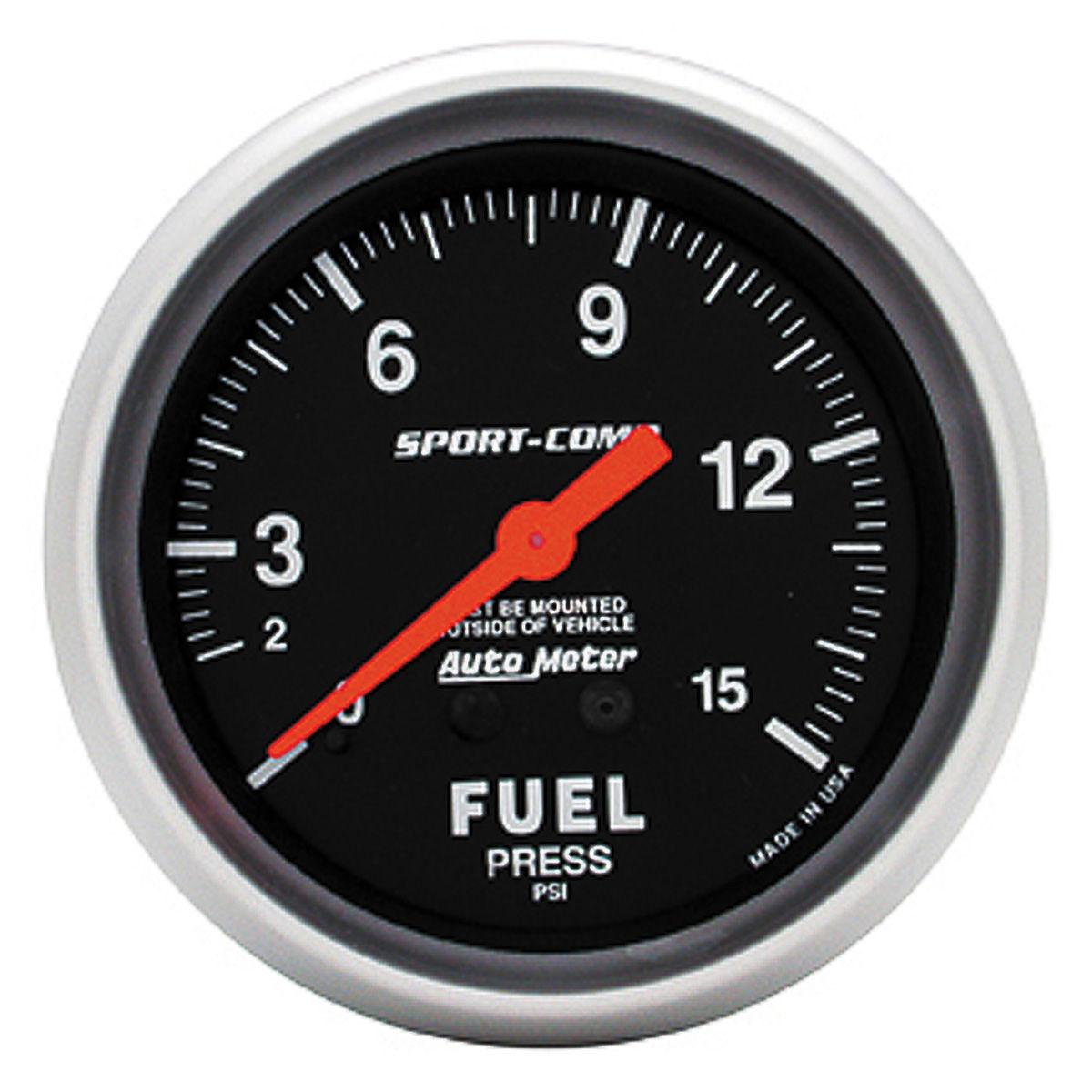 Photo of Gauges, Sport-Comp Mechanical fuel press. (0-15 psi)