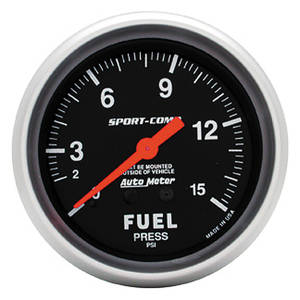1963-1976 Riviera Gauges, Sport-Comp Mechanical Fuel Pressure (0-15 Psi), by Autometer