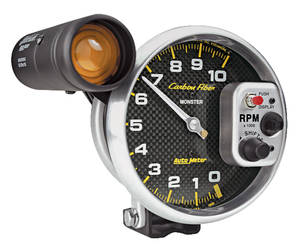 "1978-1988 El Camino Carbon Fiber Series 5"" Tach w/Shift Light (10,000 RPM), by Autometer"