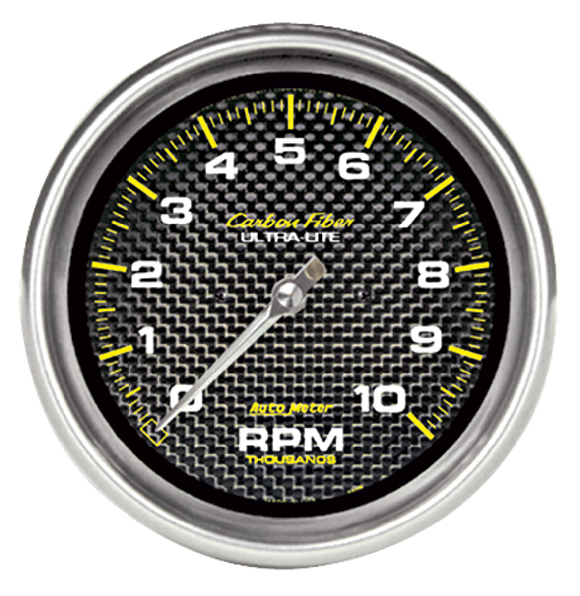 "Photo of Gauges, Carbon Fiber Series 5"" ""in dash"" tach (10,000 rpm)"