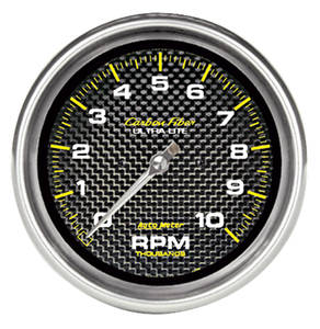 "1964-73 GTO Gauges, Carbon Fiber Series 5"" ""in Dash"" Tach (10,000 Rpm), by Autometer"