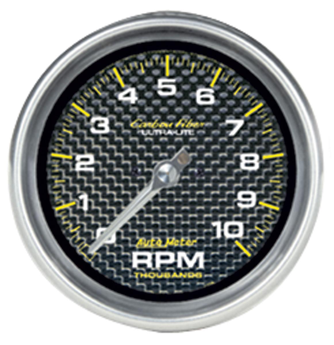 "Photo of Carbon Fiber Series 3-3/8"" ""in dash"" tach (10,000 RPM)"