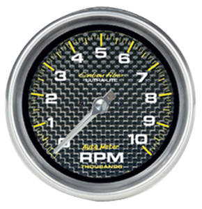 "1978-88 Monte Carlo Carbon Fiber Series 3-3/8"" ""in Dash"" Tach (10,000 RPM), by Autometer"