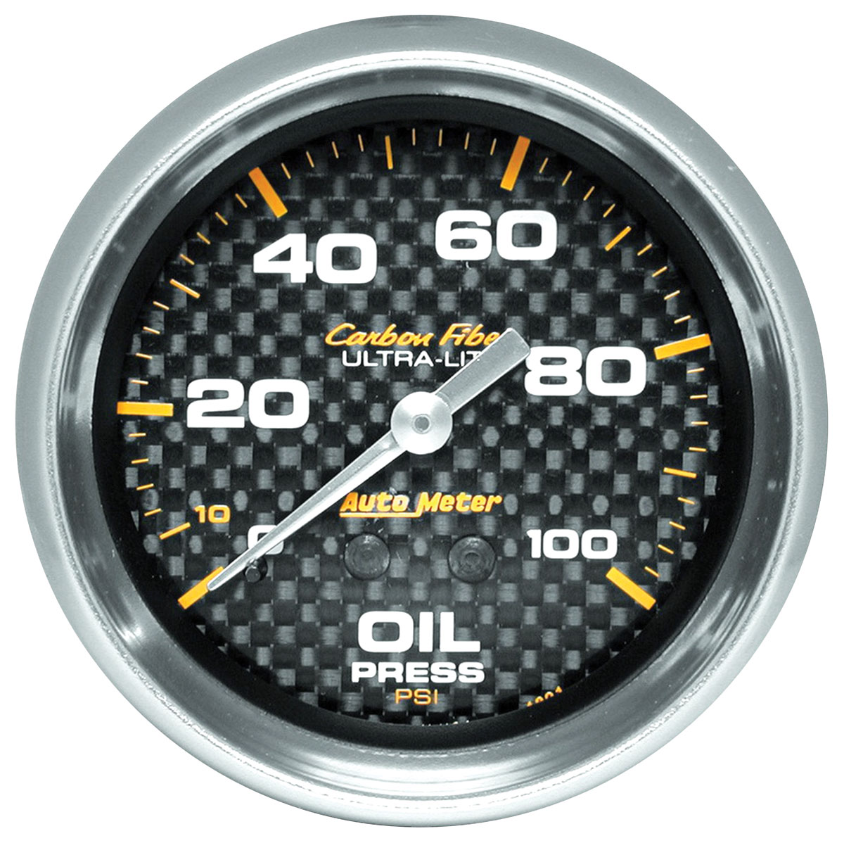 "Photo of Carbon Fiber Series 2-5/8"" oil pressure (0-100 PSI) w/6-ft. tubing"