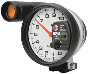 "1961-74 GTO Gauges, Phantom Series 5"" Shift Light Tach (10,000 Rpm), by Autometer"