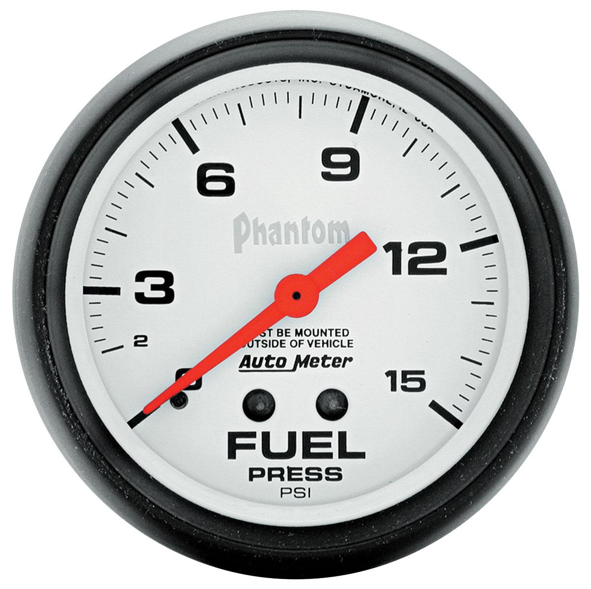 """Photo of Gauge, Phantom Series (2-5/8"""" Fuel Pressure - 0-15 PSI)"""