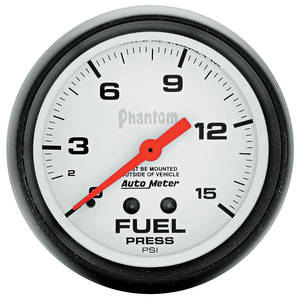 "Gauge, Phantom Series (2-5/8"" Fuel Pressure - 0-15 PSI)"