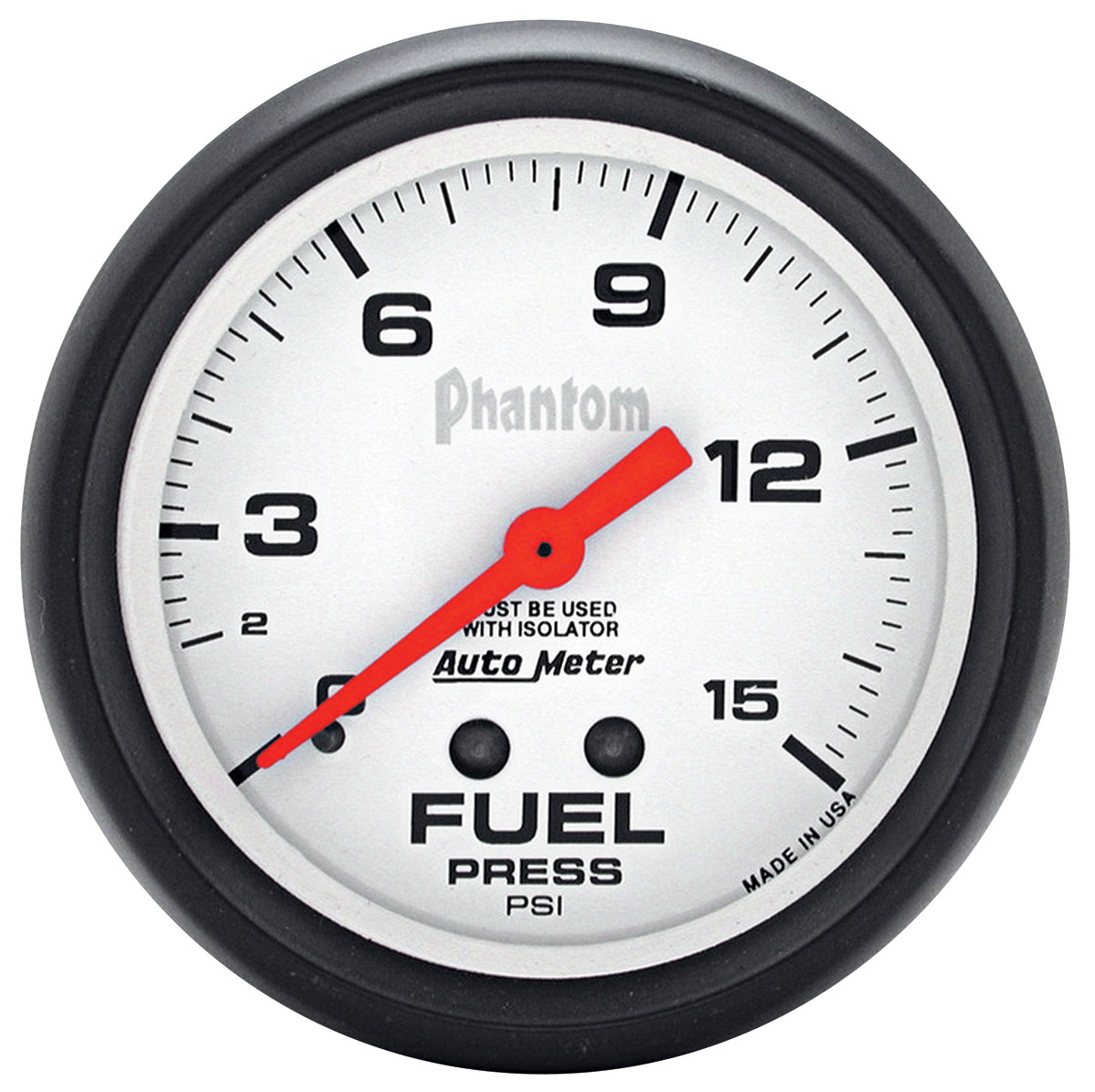 "Photo of Gauges, Phantom Series 2-5/8"" fuel pressure w/isolator (0-15 psi)"