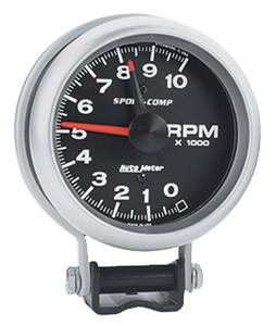 "1961-73 GTO Products Sport Comp 3-3/4"" Tach (10,000 Rpm), by Autometer"