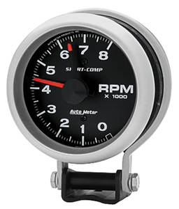 "Gauge, Sport-Comp Tachometer 3-3/4"" (8,000 Rpm), by Autometer"