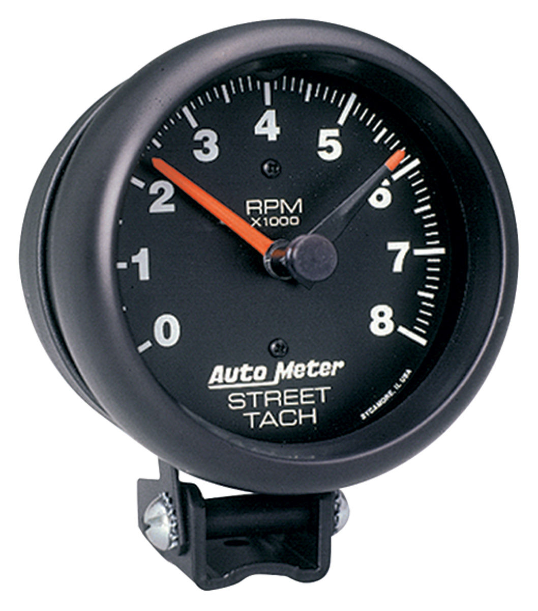 "Photo of Tachometer, 3-3/4"" Street black"