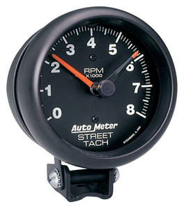 "Tachometer, 3-3/4"" Street Black, by Autometer"