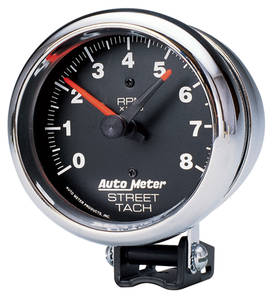"Tachometer, 3-3/4"" Street Chrome, by Autometer"