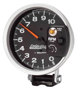 "1978-87 Malibu Tachometer, Autogage 5"" Monster Shift-Lite Shift-Lite on Shield (10,000 RPM)"