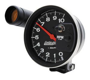 "1964-1973 GTO Tachometer, Autogage 5"" Monster Shift-Lite External Shift Light (10,000 Rpm), by Autometer"