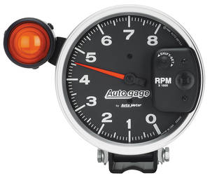 "1978-1988 El Camino Tachometer, Autogage 5"" Monster Shift-Lite Shift-Lite on Shield (8,000 RPM), by Autometer"