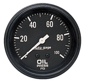 "Gauge, Autogage 2-5/8"" Oil Press. (0-100 Psi)"
