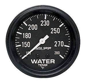 "Gauge, Autogage 2-5/8"" Water Temperature (100-280), by Autometer"