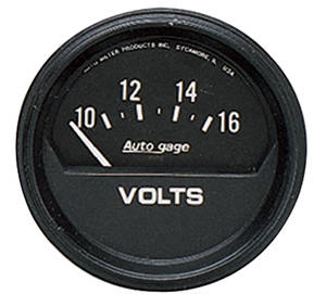 "Gauge, Autogage 2-5/8"" Voltmeter (10-16 Volts), by Autometer"