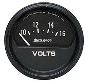 """Gauge, Autogage 2-5/8"""" Voltmeter (10-16 Volt), by Autometer"""
