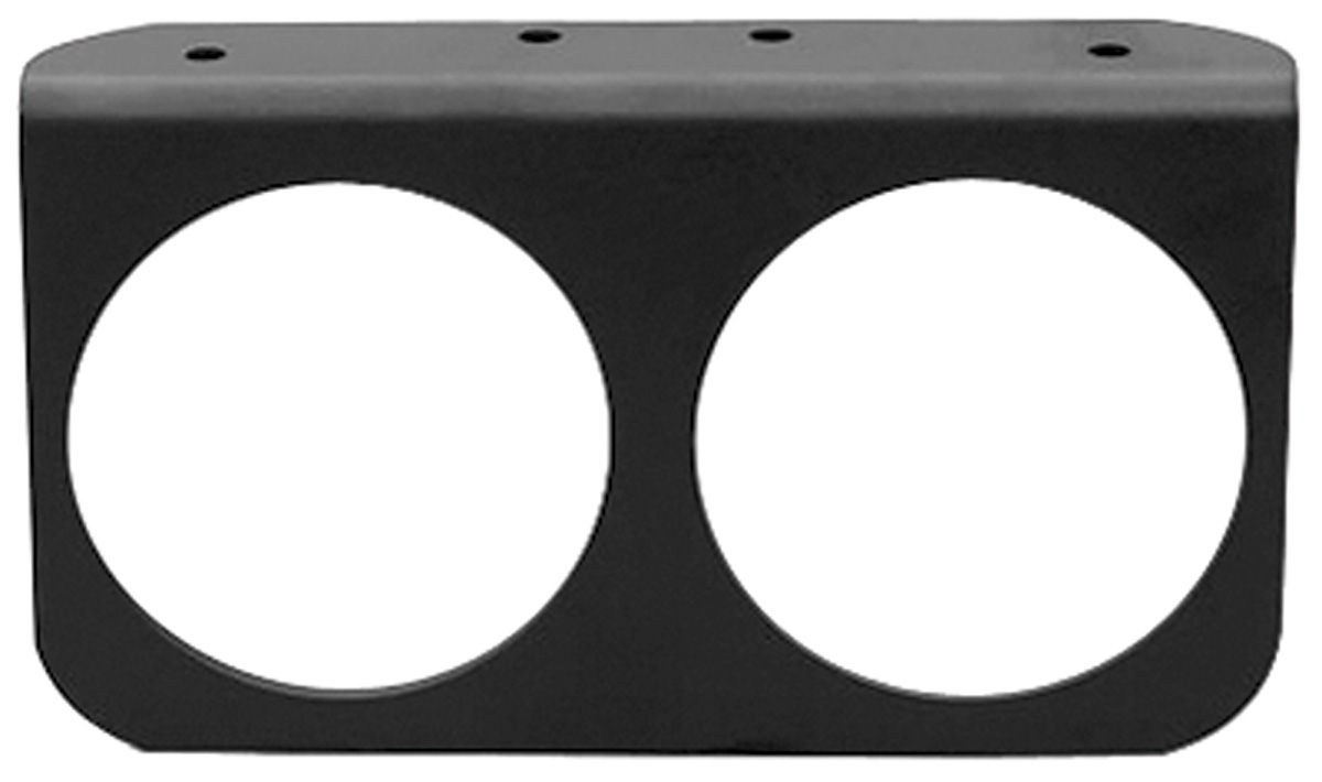 "Photo of Gauge Accessory - Black Gauge Panel, 2-5/8"" two hole"