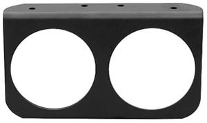 "Gauge Accessory - Black Gauge Panel 2-5/8"" Two Hole"