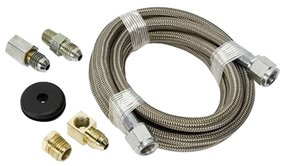 "Photo of Gauge Accessory - Braided Stainless Steel Hoses (6-ft., 3/16"" ID fittings)"