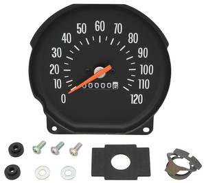 1971-1972 El Camino Speedometer Floor Shift, w/Round Gauges